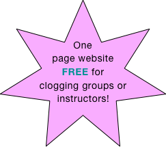 One page website FREE for clogging groups or instructors!